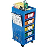 Store More Multi-Use Rolling Organizer With Baskets And Two Wire Works Paper Holders