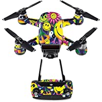 Skin for DJI Spark Mini Drone Combo - Peace Smile| MightySkins Protective, Durable, and Unique Vinyl Decal wrap cover | Easy To Apply, Remove, and Change Styles | Made in the USA