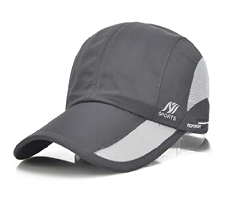 64da3e64b2c Mens Summer Quick Drying Mesh Baseball Cap Adjustable Flex Fit Waterproof  Thin Lightweight Cap Twill Cadet