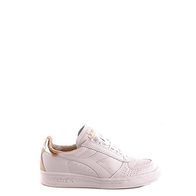26e5fd0b45202 Scarpe Donna DIADORA HERITAGE 201 170649 D BORG ELITE LIQUID Pelle Sneakers  star Primavera Estate 2017 Bianco oro 36  Amazon.co.uk  Shoes   Bags