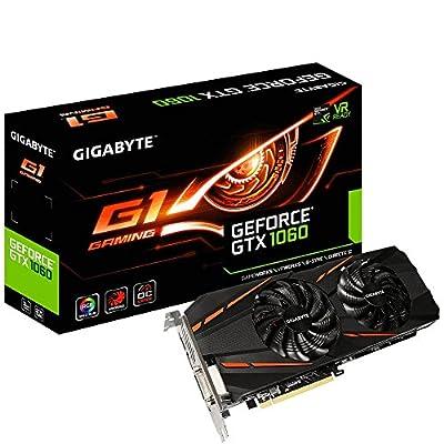 Gigabyte GeForce GTX 1060 G1 Gaming 3GB GDDR5 REV2.0 Graphic Cards GV-N1060G1GAM-3GD R2 from Gigabyte