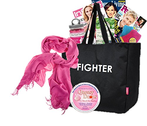 A Little Queasy FIGHTER Cancer Gift Basket for Women / Breast Cancer / All Cancers / Chemo Treatment Gift