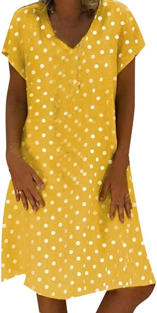 Fannyfuny Vestido De Fiesta para Bodas Talla Grandes Vestidos Playa Mujer Vestidos Casuales Vestido Midi Vestido Verano Vestidos Mujer Vestido: Amazon.es: Ropa y accesorios