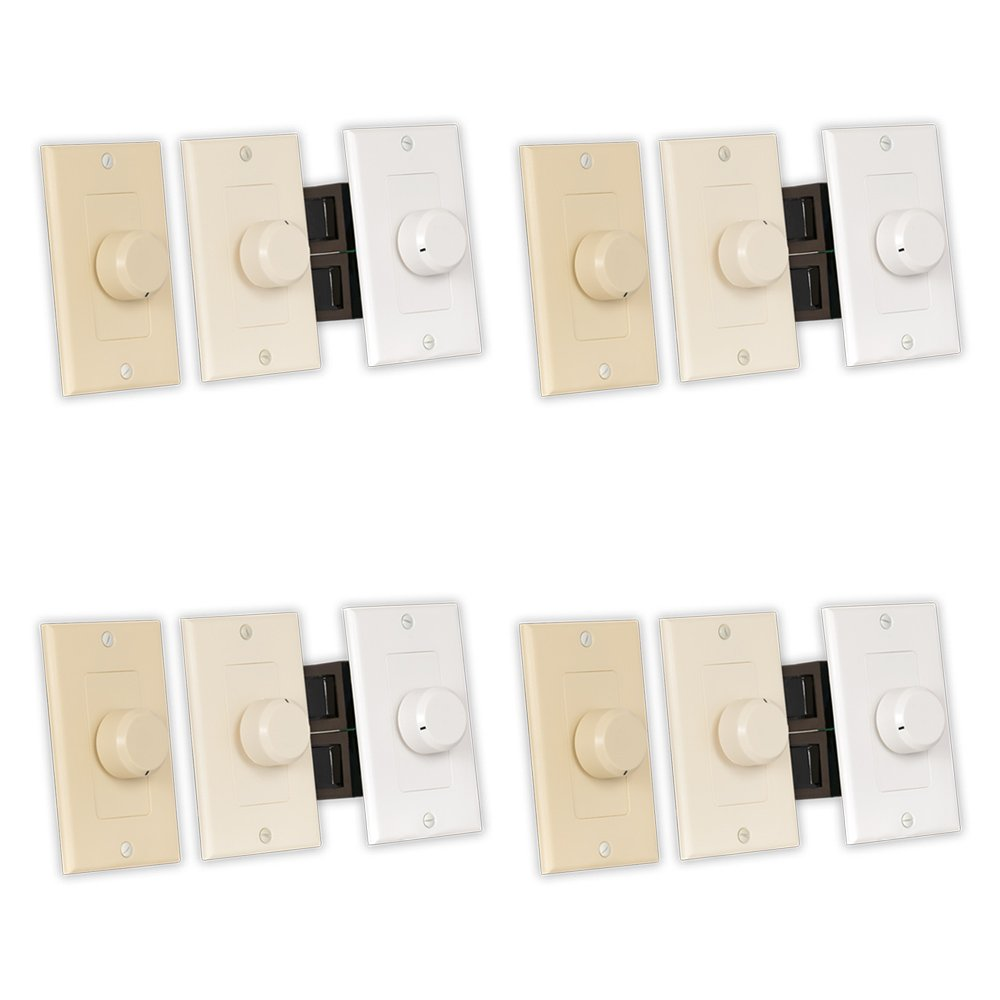 Theater Solutions TSVCD Indoor Speaker Volume Controls 3 Color Dial Audio Switches 4 Piece Pack