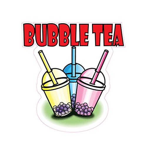 Bubble Tea Poster - Bubble Tea Concession Restaurant Food Truck Die-Cut Vinyl Sticker 10 inches