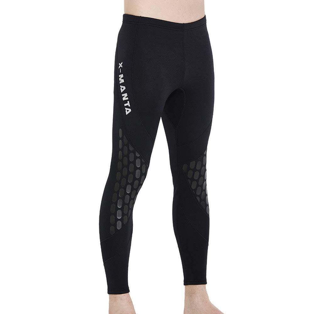 BUY-TO Traje de Neopreno para Hombre Pantalones 1.5 mm Negro ...