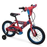 Huffy - Bicicleta para niños de Marvel Spider-Man con Ruedas de Entrenamiento, Placa de manubrio