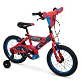 Huffy Bicycle Company 16' Marvel Spider-Man Boys Bike by Huffy, Handlebar Plaque, Red