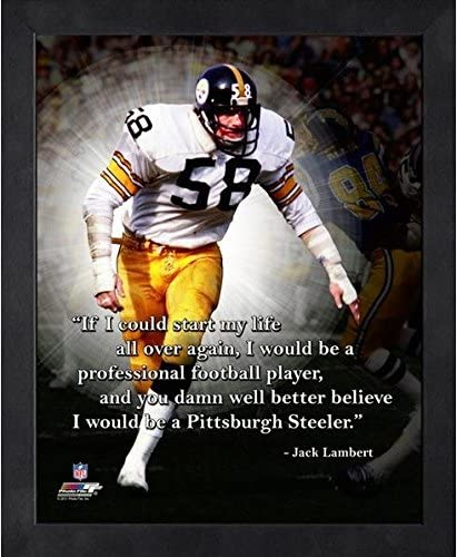 Jack Lambert Pittsburgh Steelers ProQuotes Photo Framed Size: 12 x 15