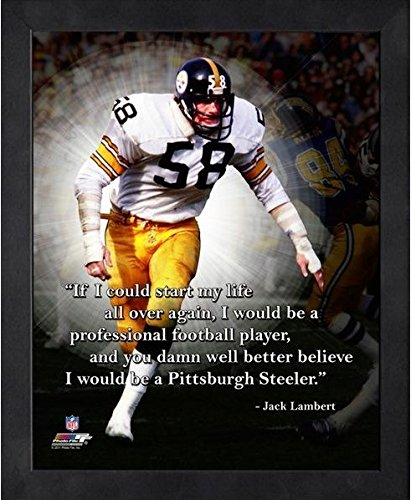 Jack Lambert Pittsburgh Steelers ProQuotes Photo (Size: 9