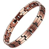 Rainso Mens Womens Magnetic Copper Bracelets for Arthritis Wristband Adjustable