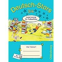 Deutsch-Stars - Allgemeine Ausgabe: 3./4. Schuljahr - Lesetraining für Fußballfans: Übungsheft. Mit Lösungen