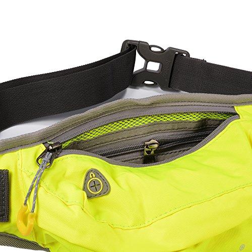 XCSOURCE Tanluhu il pacchetto della vita, sport cinghia di trasmissione regolabile, idrorepellente sweatproof Fanny Pack per camminare jogging in bicicletta Palestra Verde MT412