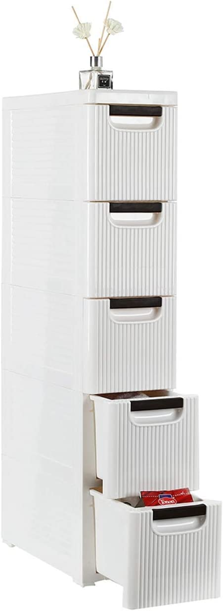 BRLUCKY Furniture Home Furnishing Plaza 3-Drawer Rolling Cart Organizer Unit with Wheels Narrow Slim Container Storage Cabinet for Bathroom Bedroom Simple Market Basket Storage Stand Organizer