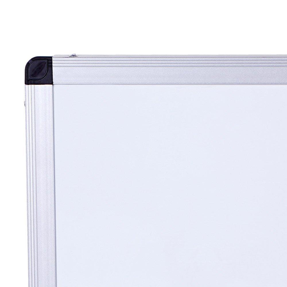 W90xH60CM VIZ-PRO Magnetic Whiteboard Silver Aluminium Frame