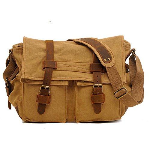XY Fancy - Bolso al hombro para hombre marrón marrón, gris (gris) - RH#BB0829-0218-GC20 caqui