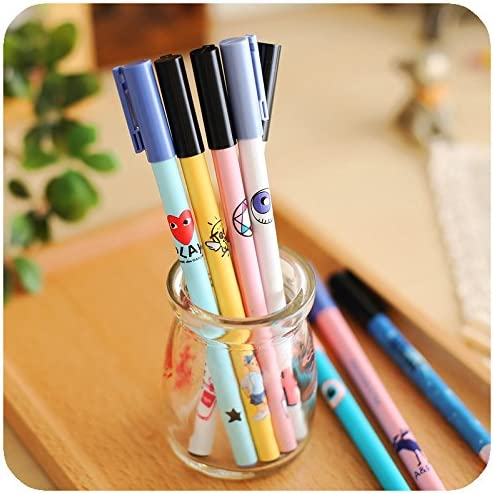 Cute Gel Pen Lovely Black Pens Zakka Canetas Escolar Kawaii Stationery Papelaria Office Supplies Material
