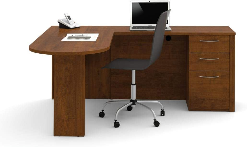 Bestar L-Shaped Desk with Pedestal – Embassy