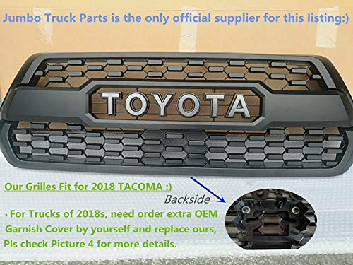 Tacoma TRD PRO Grille Matte Black Fit for TOYOTA Tacoma 2016 2017 2018 all models