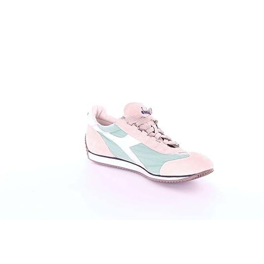 Diadora heritage sneakers nuovo equipe stone wash camoscio menta grigio tela  art.156988  Amazon.it  Scarpe e borse b1bf07b8845