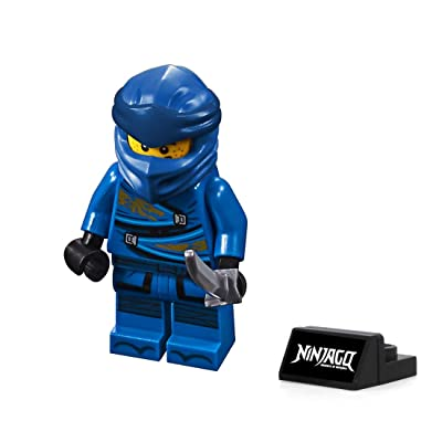LEGO Ninjago Minifigure - Jay (Legacy) with Sword and Display Stand 70670: Toys & Games