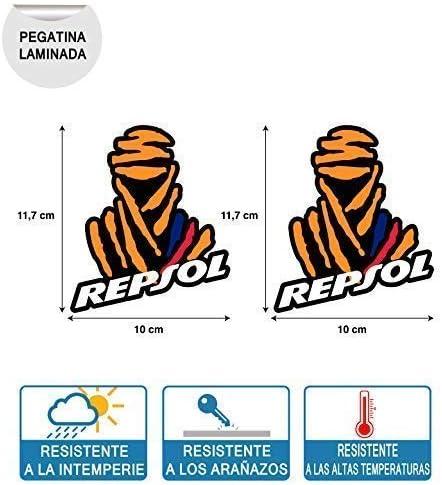 2 Unidades Pegatinas Compatible con Dakar REPSOL Honda Y BMW IMPRESIÓN Digital Laminado Protector: Amazon.es: Coche y moto