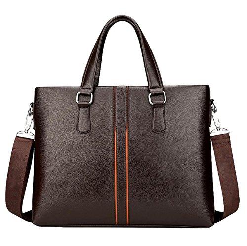 Computer Handbag Business Horizontal Fashion Messenger Shoulder Men Brown1 Leisure Large Bag Capacity 's SRWpqcz