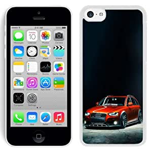 NEW Unique Custom Designed iPhone 5C Phone Case With Slammed Audi A4 Allroad_White Phone Case