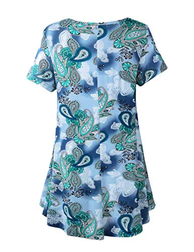 BELAROI Women's Short Sleeve Tunic Tops Plus Size T Shirt Blouses S-3X