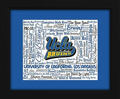 University of California, Los Angeles (UCLA) 16x20 Art Piece - Beautifully matted and framed behind glass
