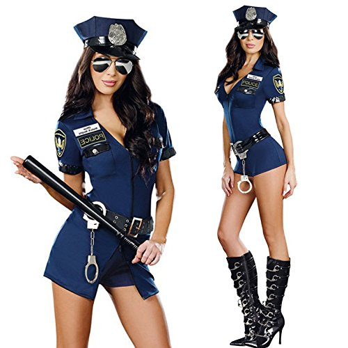 Sexy New Police Cop Uniform Officer Fancy Dresses Halloween Costumes For Women (Halloween Costumes Cop Woman)