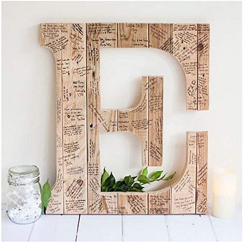 wedding guestbook letter wooden guestbook letter alternative wedding guestbook unique guestbook