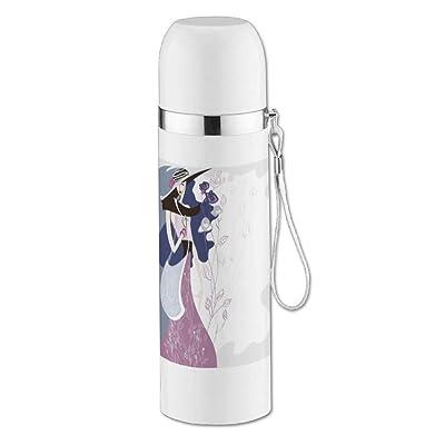Élégant Girl isotherme Bouteille thermos en acier inoxydable d'eau vide pour bouteilles de café thermos conteneurs 350ml léger et compact