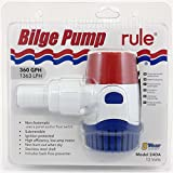 Rule 24 Submersible Bilge Pump, 360 GPH, 12 Volt
