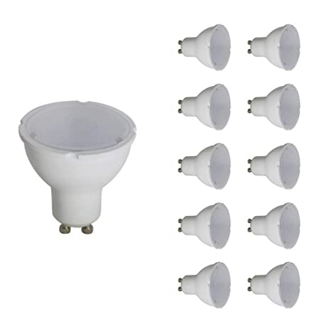 Pack de 10 bombillas LED GU10 8 W blanco neutro 680 lm