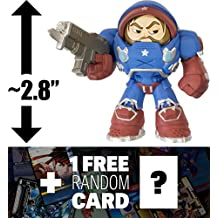 """Stars & Stripes Jim Raynor - Starcraft: ~2.8"""" Heroes of the Storm x Funko Mystery Minis Vinyl Figure + 1 FREE Video Games Themed Trading Card Bundle [44855]"""