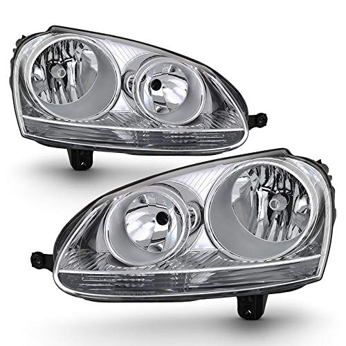 07 2008 2009 Volkswagen GTI/Jetta/Rabbit Headlights Headlamps [OE Style] Driver & Passenger Side ()