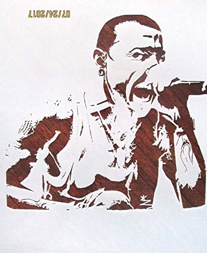 OutletBestSelling Reusable Sturdy Chester Bennington Stencil Reusable 10 mil Stencil