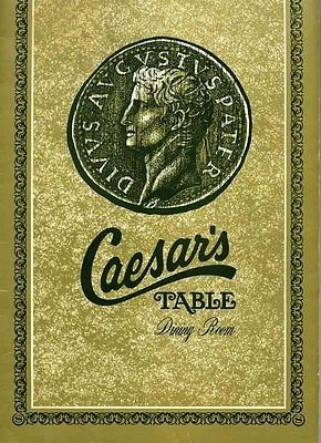 Caesar's Table Dining Room Menu Sheraton Motor Inn Waukegan Illinois 1970's (Sheraton Room Dining)