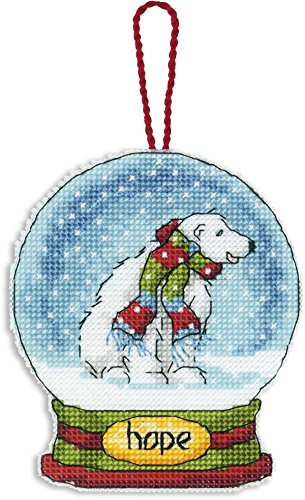 Dimensions Counted Cross Stitch Hope Polar Bear Snow