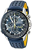 Image of Citizen Men's Eco-Drive Blue Angels World Chronograph Atomic Timekeeping Watch with Day/Date, AT8020-03L