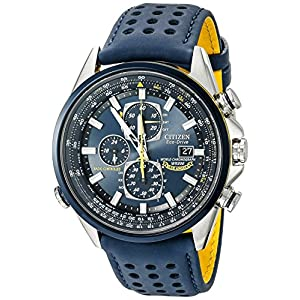 Citizen Men's Eco-Drive Blue Angels World Chronograph Atomic Timekeeping Watch with Day/Date, AT8020-03L