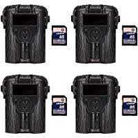 Moultrie I-45S 8MP Game Trail Camera, 4 Pack (Certified Refurbished) + SD Cards