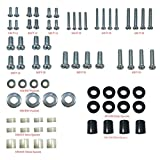 Husky Mounts Universal VESA TV mount Screws Hardware Kit with M8 M6 M5 M4 Screws Washers spacers Variety to Fit all TV sizes and brands wall mounts Brackets and Curved TVs
