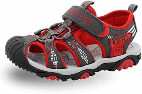 c58090a02f6 SENFI Boys Sport Sandal Summer Breathable Closed-Toe Strap Walking Shoes