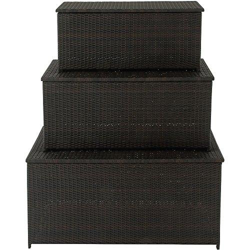 Hanover 3-in-1 Resin Deck Box Set Dark Brown HANDECKBOX-3