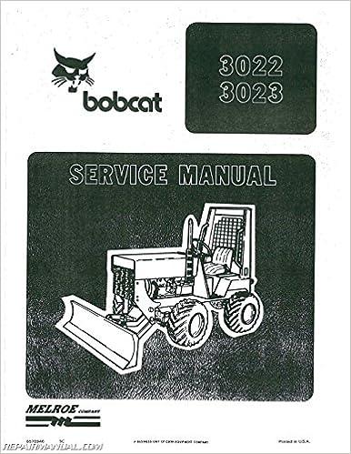 Book BC-S-3022-3023 Bobcat 3022 3023 Tractor Service Manual
