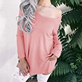 Keliay Bargain Fashion Women Sexy Long Sleeve Solid Top Strapless Cold Shoulder Knitted Blouse