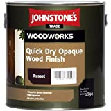 5 LTR JOHNSTONES WOODWORKS QUICK DRY OPAQUE WOOD FINISH WHITE by Johnstones