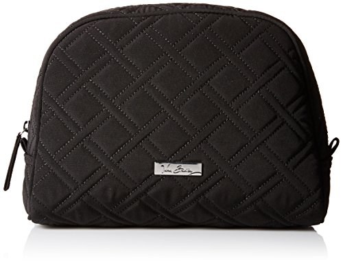 Vera Bradley Large Zip Cosmetic Bag, Classic Black, One Size